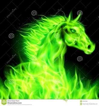 cavallo-verde-del-fuoco-34607665